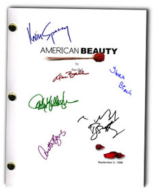 American Beauty signed movie script