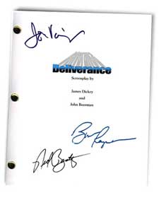 deliverance 1972  signed movie script