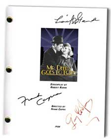 mr deeds goes to town 1936 signed script