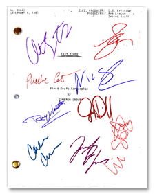 Fast times  signed script