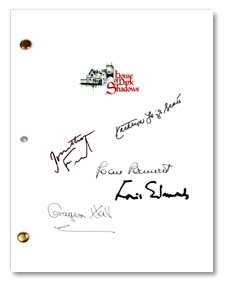 house of dark shadows signed script