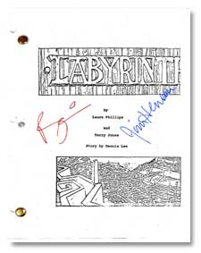 labyrinth  signed script