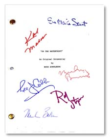 on the waterfront signed script